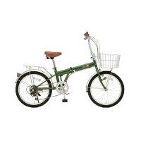 TOP ONE/トップワン KGK206LL-09 20インチ折畳み自転車 モスグリーン