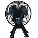 エスケイジャパン 卓上型扇風機 ワンわんファン 3枚羽根 SKJ-SH17WAN-K ブラック SKJSH17WANK