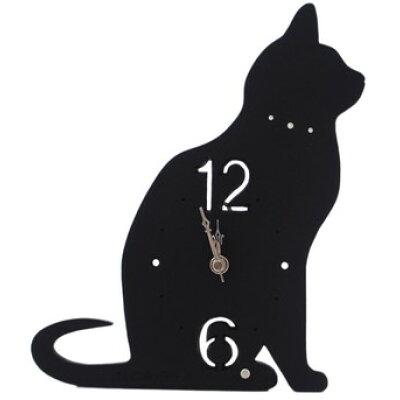 シェード 置時計 ネコ A ブラック CL-52