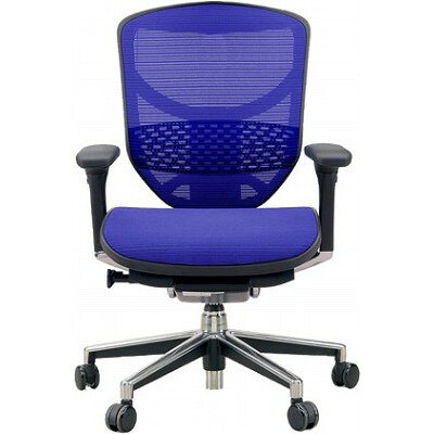 エルゴヒューマン オフィスチェア エンジョイ(ヘッドレストなし)3Dメッシュ EJ-LAM-KMD-35 ブルー