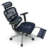 Ergohuman(エルゴヒューマン)オフィスチェア エルゴプロ オットマン内蔵EHP-LPL BL(KM-15) エラストメリック・メッシュ ブルー