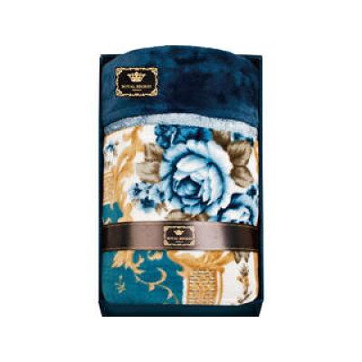 55ロイヤルレジオン 新合繊マイヤー合せ毛布〈ブルー〉RSK-25BLN60066