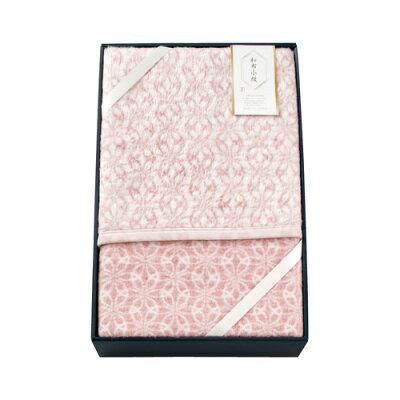 毛布 シングル 和布小紋 七宝 アクリル毛布(毛羽部分) ピンク WFK-15100W-PI