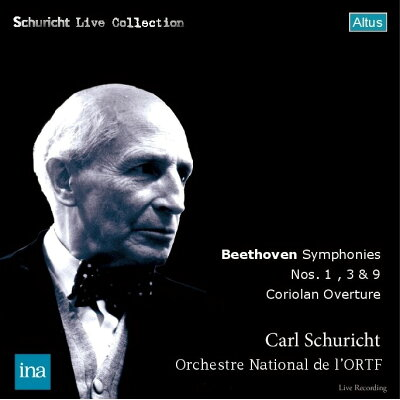 Beethoven ベートーヴェン / 交響曲第3番 英雄 、第9番 合唱 、第1番、序曲 コリオラン カール・シューリヒト & フランス国立放送管弦楽団 1959-65年ステレオ 2CD 輸入盤