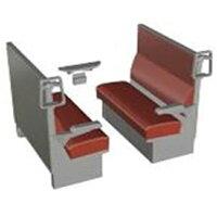 1/12スケール 鉄道小物シリーズ EK12 ボックスシート赤 キットタイプ トミーテック