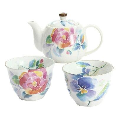 美濃焼 和藍 花ことばポット茶器 ギフト