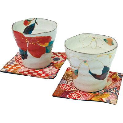 ceramic-ai/セラミック藍 花かいろう ペアロックカップセット