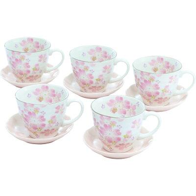 華まつり コーヒー碗皿5客揃 04418