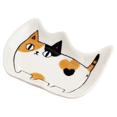 にゃん屋シリーズ猫3兄弟猫型小皿 mike05