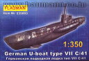 1/350 独UボートTypeVII 7型 C/41・シュノーケル搭載 プラモデル フラッグマン