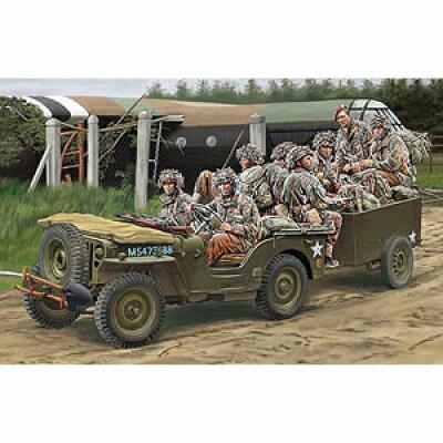 1/35 英1/4ton空挺用小型兵員車&トレーラー+英降下兵8体 プラモデル ブロンコモデル