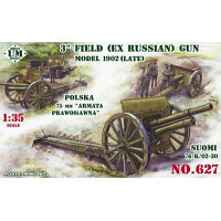 1/35 露・M1902型76.2mm野砲・後期型 プラモデル ユニモデル