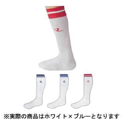 ソフトボール用ソックス カラー:ホワイト×ブルー サイズ:L #ST-36