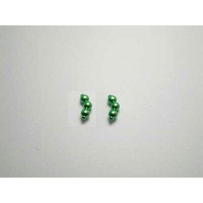 チタンピアス チタン製 モチーフピアス スリーボール フローラルグリーン緑