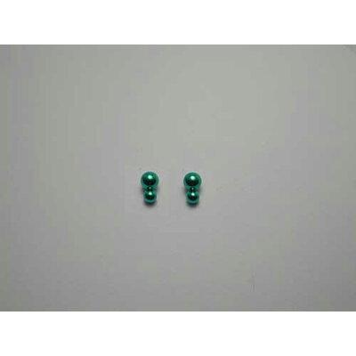 チタンピアス チタン製 モチーフピアス ダブルボール グリーン緑