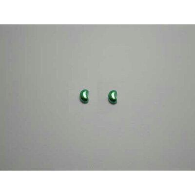 チタンピアス チタン製 モチーフピアス ビーンズ フローラルグリーン緑