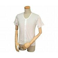 紳士イージートゥウェア 半袖前開きシャツ(マジックテープ式) M・L WM-130/ L 白