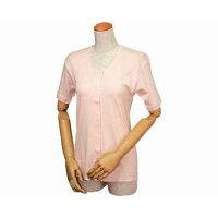 婦人イージートゥウェア 三分袖前開きシャツ(マジックテープ式) M・L WL-130/ L ピーチ