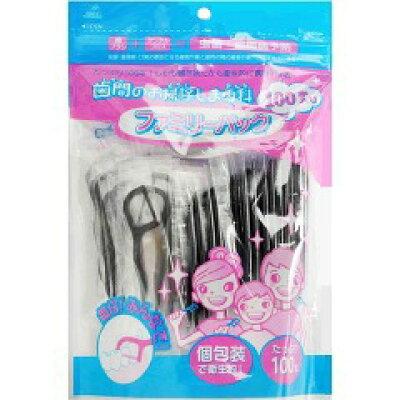 歯間のお掃除しま専科(デンタルフロス) ファミリーパック 黒 06-571(100本入)