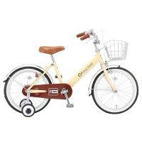 Raychell/レイチェル KB-18R 18インチ 子供自転車 アイボリー×ブラウン