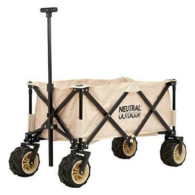 ニュートラルアウトドア オフロードキャリアワゴンII コンパクト収納型 折りたたみ式キャリーカート大容量 neutral outdoor NT-CW03 nutral-43648