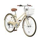 シティーサイクル 自転車 26インチ シマノ6段ギア ノーパンクタイヤ装備 ママチャリ 軽快車 KML-266RN