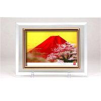 クリスタル絵画 赤富士桜・14982 1012370