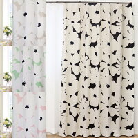 北欧おしゃれ66柄x36サイズから選べる 1級遮光カーテン 2枚組
