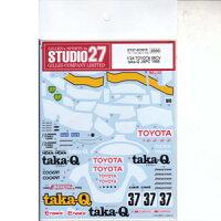 1/24 トヨタ88CV taka-Q JSPC 1988 タミヤ対応 スタジオ27 ST27 DC875 トヨタ88CV 1988 デカール
