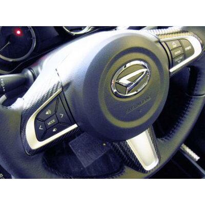 HASEPRO マジカルカーボン ムーブカスタム LA150S ステアリングスイッチパネル ブラック ダイハツ ムーヴ ハンドル/CSWD-2