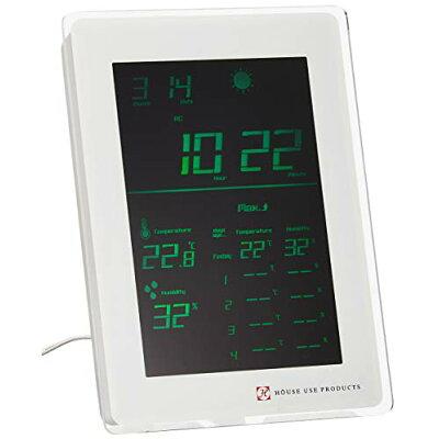 HOUSE USE PRODUCTS/ハウスユーズプロダクツ LCD表示 電波置き掛け時計 AIR-CONDITION-CLOCK Dayton GREEN