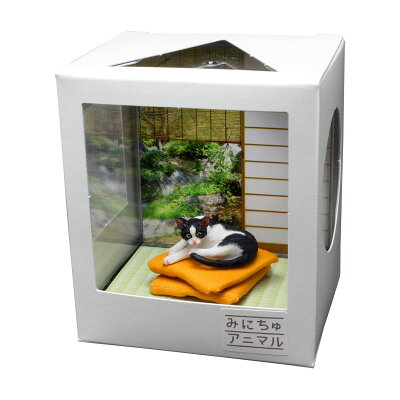 みにちゅアニマル ネコのいる空間 1/12 和室の情景 モモ CATA-11