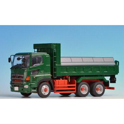 1/50 日野プロフィアFS 6×4 ダンプトラック 緑 フルキャブ 標準ルーフ 赤シャシー 再販 ケンクラフト