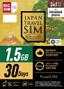 IIJ BIC SIM Japan Travel 1.5GB 3in1