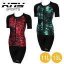 リュウナ KNY SPORTS 水着 半袖セパレート ブロック柄 レギュラーサイズ KNY02-C