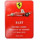 ピンバッジ フェラーリ 312T N.ラウダ モナコGP 1975