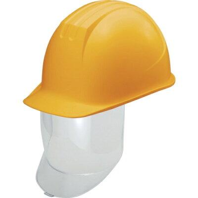 タニザワ 大型シールド面付ヘルメット 溝付 イエロー 1個 品番:0162-SD-Y2-J