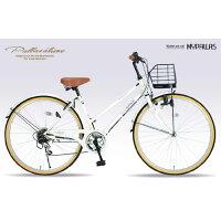 My pallas M-501 26インチ 6段ギア シティサイクル ホワイト 2014年モデル