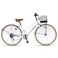 マイパラス シティサイクル266SPオートライト ホワイト M-501SHINY-W01