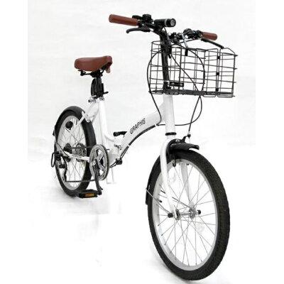 GRAPHIS(グラフィス) 折りたたみ自転車 20インチ 6段ギア GR-FD