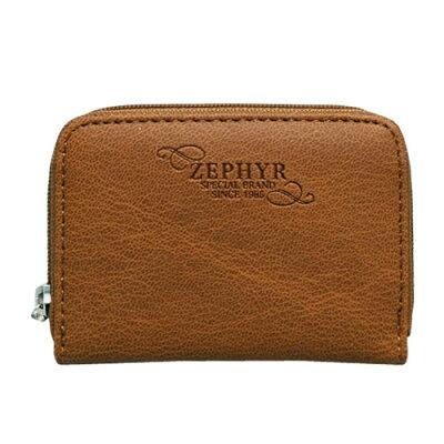 ZE1-6-BR/アルディ ZEPHYR 紳士財布ラウンド小銭入れ 茶/ウォレット/サイフ/メンズ/合皮