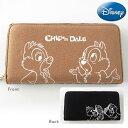 Disney ディズニー スウェットシリーズ 長財布 ラウンド束入れ DS12-11・チップ&デール