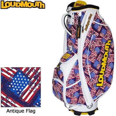 ラウドマウス LOUDMOUTH ゴルフ 9型 カートバッグ / キャディバッグ LM- CB0006 158 アンティークフラッグ