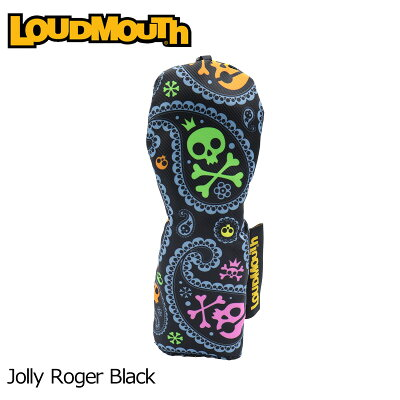 ラウドマウス 2019 ヘッドカバー ユーティリティ用 Jolly Roger Black ジョリーロジャー ブラック LM-HC0006/UT/769987201