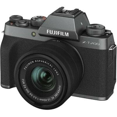 富士フイルム デジタルカメラ X-T200 レンズキット ダークシルバー(1台)