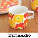 marimekko MINI-UNIKKO コーヒーカップ/ミックス 72 201 68592 マリメッコ ミニウニッコ ホワイト×オレンジ×ピンク