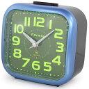 FORMIA 目覚まし時計 集光文字盤 アラーム音切替式 メタリックブルー N-HT101BU