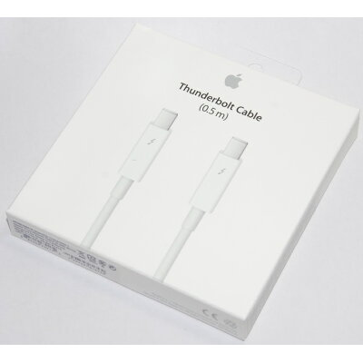 Apple Thunderboltケーブル (0.5 m) - ホワイト # MD862ZM/A