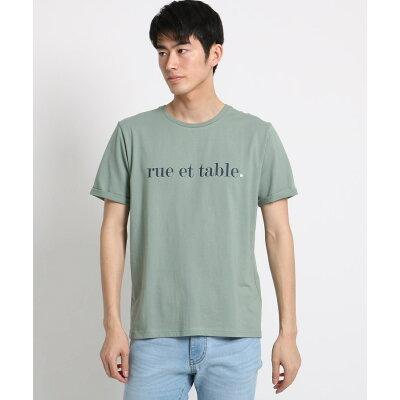 THE SHOP TK Men ザ ショップ ティーケー メンズコットンロゴ刺しゅうTシャツ
