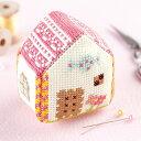 かわいいカタチのピンクッション ビスコーニュ お菓子の家(クロスステッチキット) NO_3734